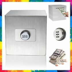 PIGGY BANK for Adults Stainless Steel Password Money Saver 5.9 Inch By JIAJIA