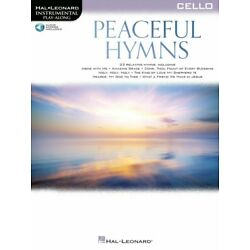 Peaceful Hymns for Cello Sheet Music Play-Along Book and Audio NEW 000366484