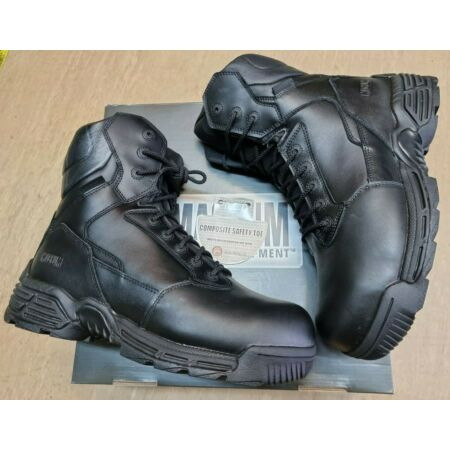 img-NEW Magnum Stealth Force 8.0 Black Leather Combat Boots SZ CT CP WPI Size 10 UK