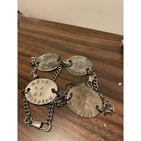 img-Ww1 ww2 Relic ID Tag Keyring Dog Tag Bracelet British Rbl And Soldier Charity
