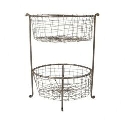 Elk-Home - Rockwell - 17.3 Inch Double Utility Basket   Natural Finish -