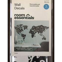 Room Essentials Wall Decals  The World