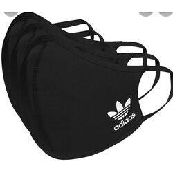 Small Kids Adidas Face Mask Cover Protection Black SMALL (3 Pack)
