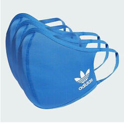 SMALL KIDS Adidas Face Mask Cover Protection Blue SMALL (3 Pack)