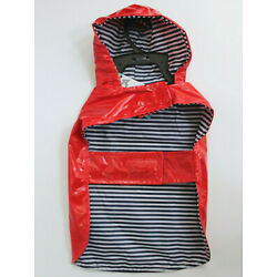 ASPCA Pet Apparel Red Hoodie Raincoat with Pocket Size XS