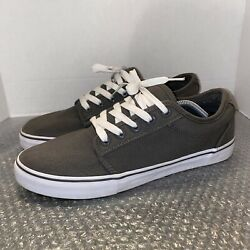 ADIO Skateboard Shoes Men s Size 12 Gray/White Lace Up Athletic Sneakers