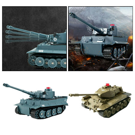 img-Remote Control Tank with Lights & Sound Effects, Army RC Car Toy