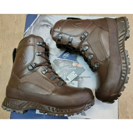 img-NEW Haix British Army Issue GoreTex Combat Brown Leather Tactical Boots 5M UK