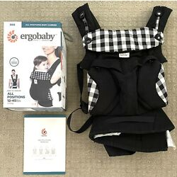 Pre-Owned ERGOBABY 360 'All Positions' Baby Carrier (NOIR - GINGHAM) $139 Retail