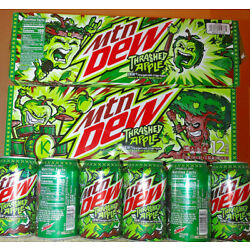 It's time to THRASH with NEW Mountain Dew Thrashed Apple. (12oz cans) Free Ship!