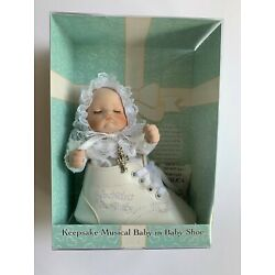Keepsake Musical Porcelain Baby Rotates In Baby Shoe & Plays : Hush Little Baby