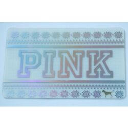 PINK Victoria's Secret Gift Card - Silver Foil, Dog at Bottom Row - No Value