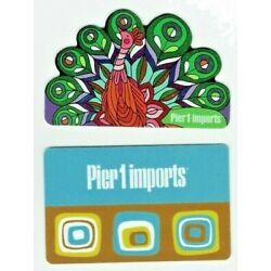 Pier 1 Imports Gift Card - LOT of 2 - 2006 & Die-Cut Peacock 2013 - No Value