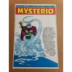 Mysterio pinup Amazing Spider-Man Annual Marvel Comics Poster by Steve Ditko