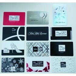 Saks Fifth Avenue Gift Card LOT of 12 Different Styles -Saks Off Fifth -No Value