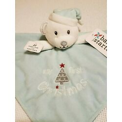 NWT BABY STARTERS ~My First Christmas~ Bear Blue Security Blanket Plush Lovey