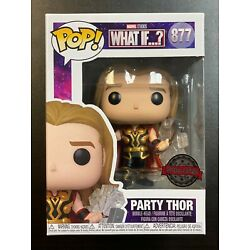 IN HAND FUNKO POP MARVEL WHAT IF PARTY THOR #877 SPECIAL EDITION EXCLUSIVE