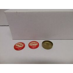 (2) vintage Cigarette Loads Load red caps and tin 1'' round red color USA