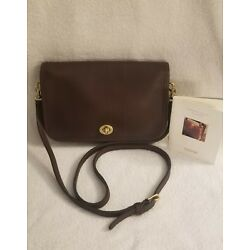 Coach Vintage Penny Pocket Brown Leather Cross Body Bag 9755 Made in USA