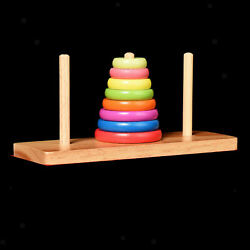 Colorful Rainbow Stacking Loop Tower Fine motor skills form knowledge game