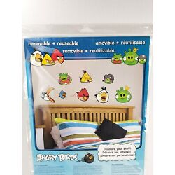 Angry Birds 30+ Reusable Wall Stickers Decorative Decals SEALED