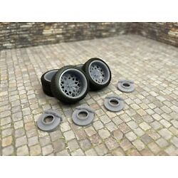 1/24 Scale 3D Printed 20'' Staggered Depth Snowflake Style Wheels Tires & Brakes