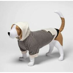 Boots and Barkley Grey Striped Hoodie Dog and Cat Size XS