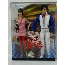Speed Racer and Trixie 2007 pink label Barbie Mattel NIB NEW