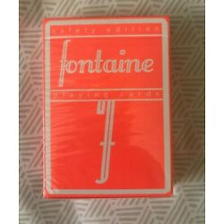 Fontaine Safety Edition Playing Cards - NEW SEALED RARE SOLD OUT