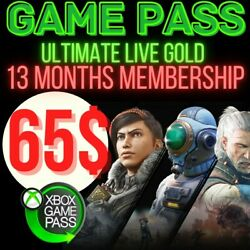 Xbox Game Pass Ultimate + xbox live gold + EA PLAY(12 MONTH + 1 MONTHS) - READ