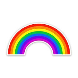 Rainbow Gay Pride LGBTQ 4'' Wide Sticker - Includes Two Stickers