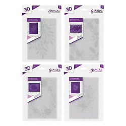 Crafter's Companion Gemini 5'' x 7'' 3D Embossing Folder - SET OF 4 NEW