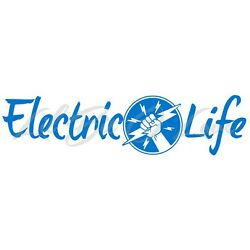 Electric Life Vinyl Decal Electrician Lineman Power Bolt Stickers Themed