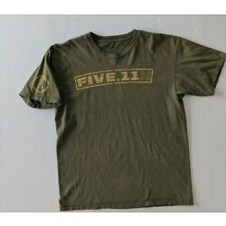5.11 Tactical T-shirt Size Large Short Sleeve Green Cotton Two-Sided Graphics