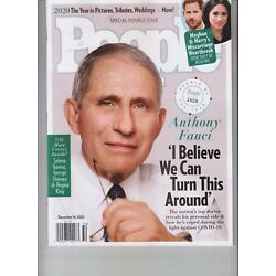 DR ANTHONY FAUCI PEOPLE OF THE YEAR PEOPLE MAGAZINE D 14, 2020 NO LABEL COVER #1