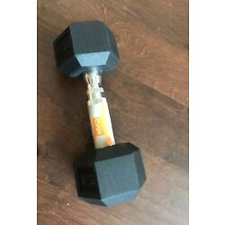 CAP Hex Rubber 15 lb Pound Dumbbell Weight -New- IN HAND SHIPS NOW