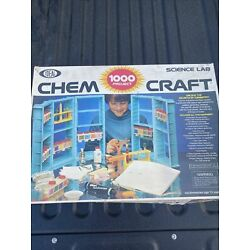 Chem Craft 1000 Project - Science Lab - Ideal Chemistry Set 35208 As-is