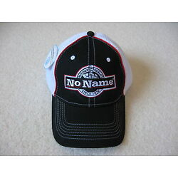 Adult Baseball Hat With ''NO NAME'' Logo - Black With White Mesh