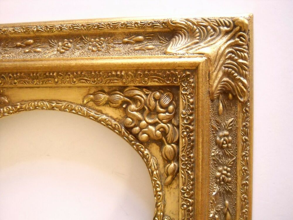 picture frame oval antique ornate bright dark gold classic old style 8 x 10 ebay. Black Bedroom Furniture Sets. Home Design Ideas