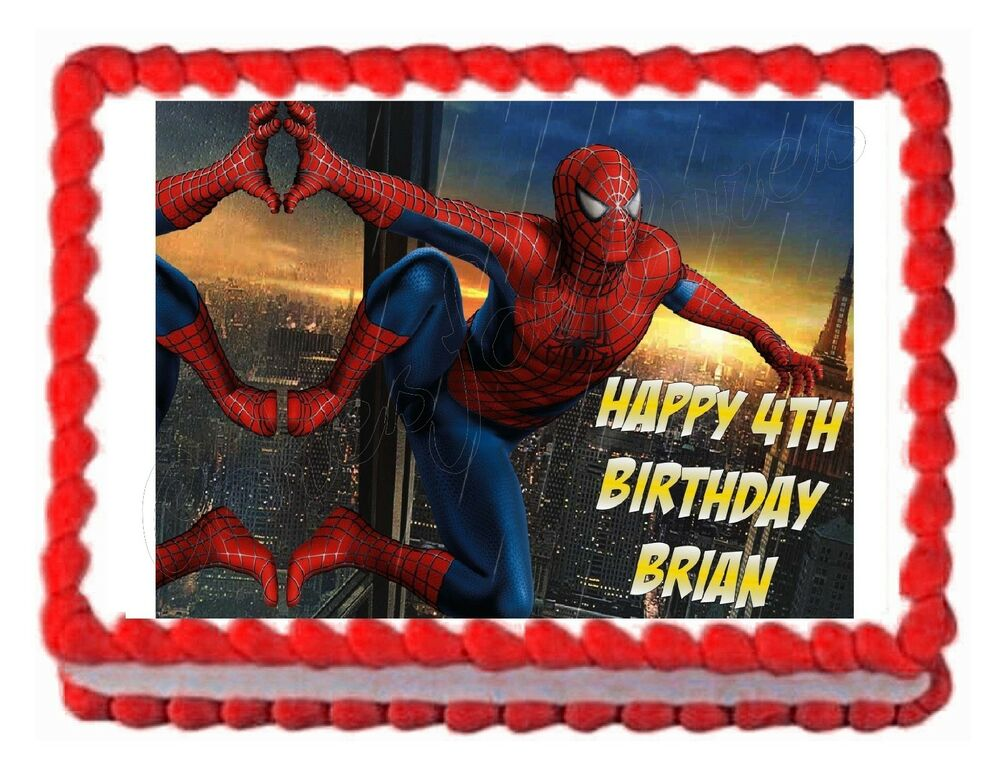 SPIDERMAN party edible cake decoration image cake topper ...