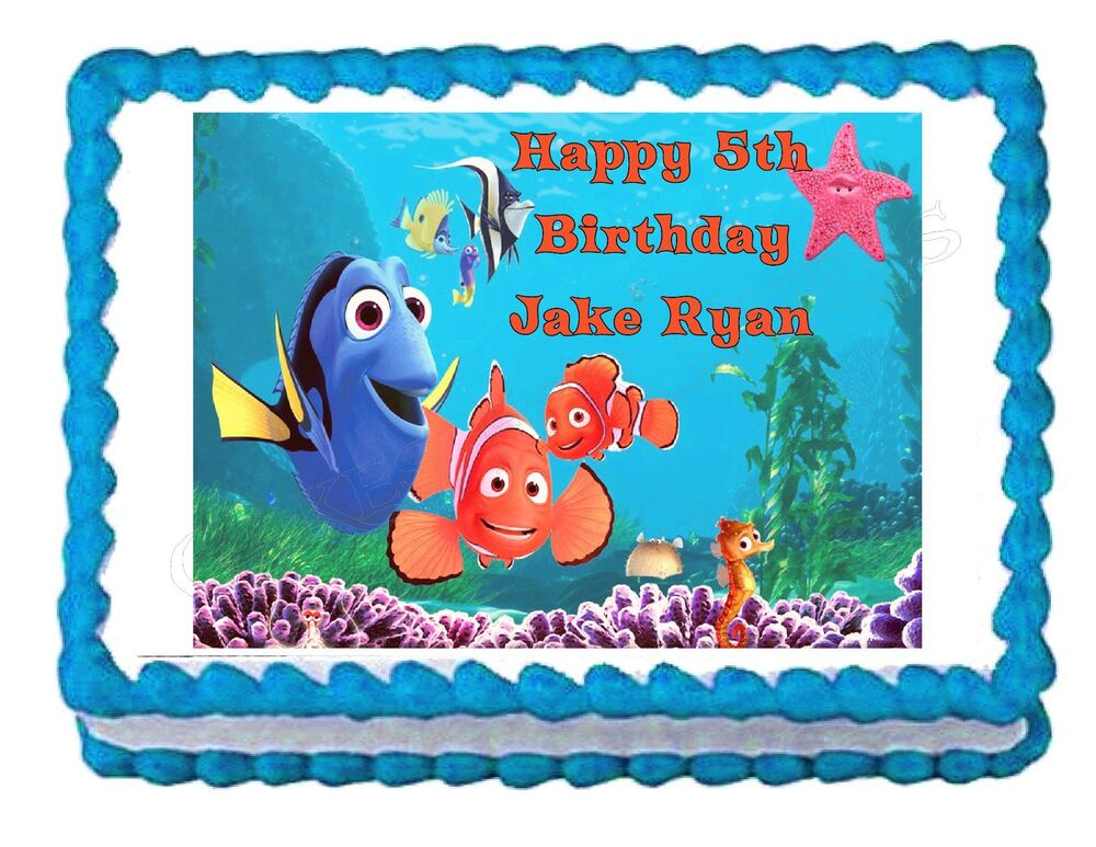 Edible Cake Decorations Sheets : FINDING NEMO party decoration edible cake image cake ...