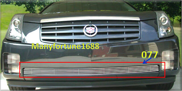 03 07 2006 2007 cadillac cts billet bumper grille 076 ebay. Black Bedroom Furniture Sets. Home Design Ideas