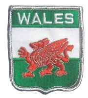 WALES DRAGON FLAG WORLD EMBROIDERED PATCH BADGE