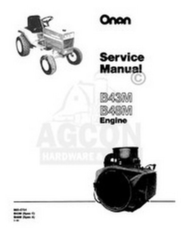Onan Engine Parts Catalog : Onan b m engine service shop repair manual ebay