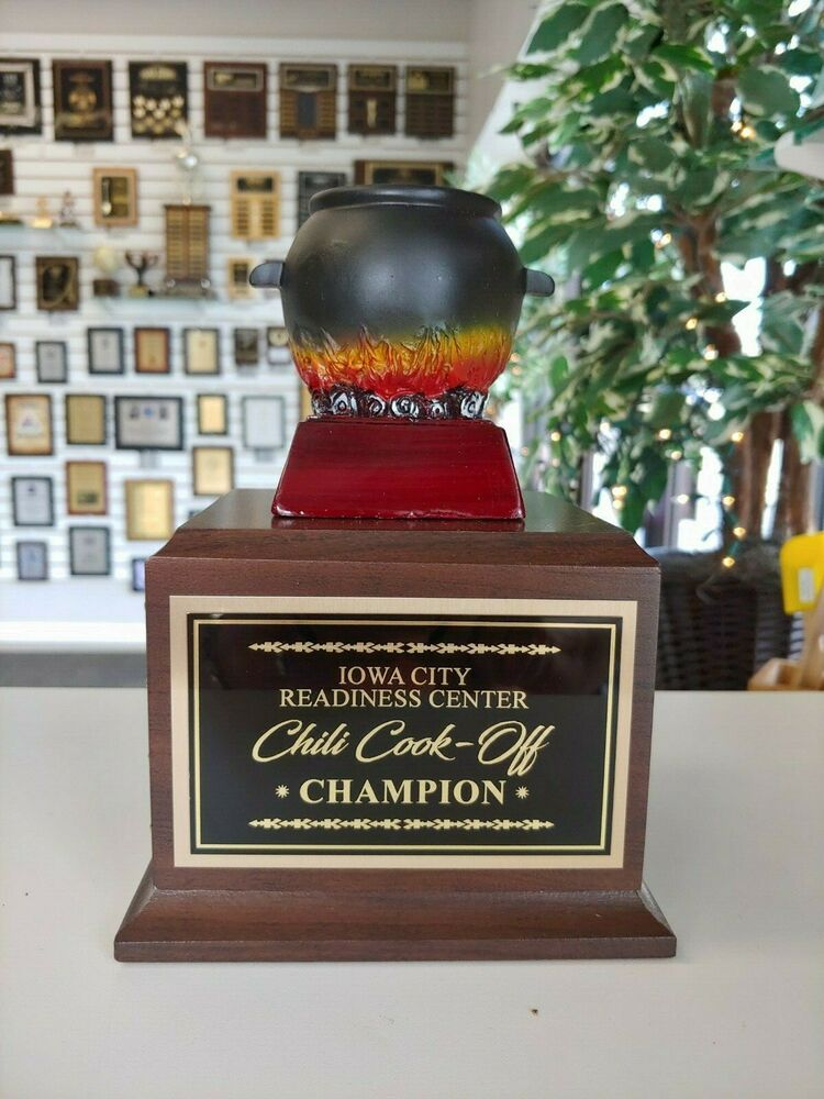 Chili Cook Off Perpetual Award Trophy Cook Off Contest Ebay