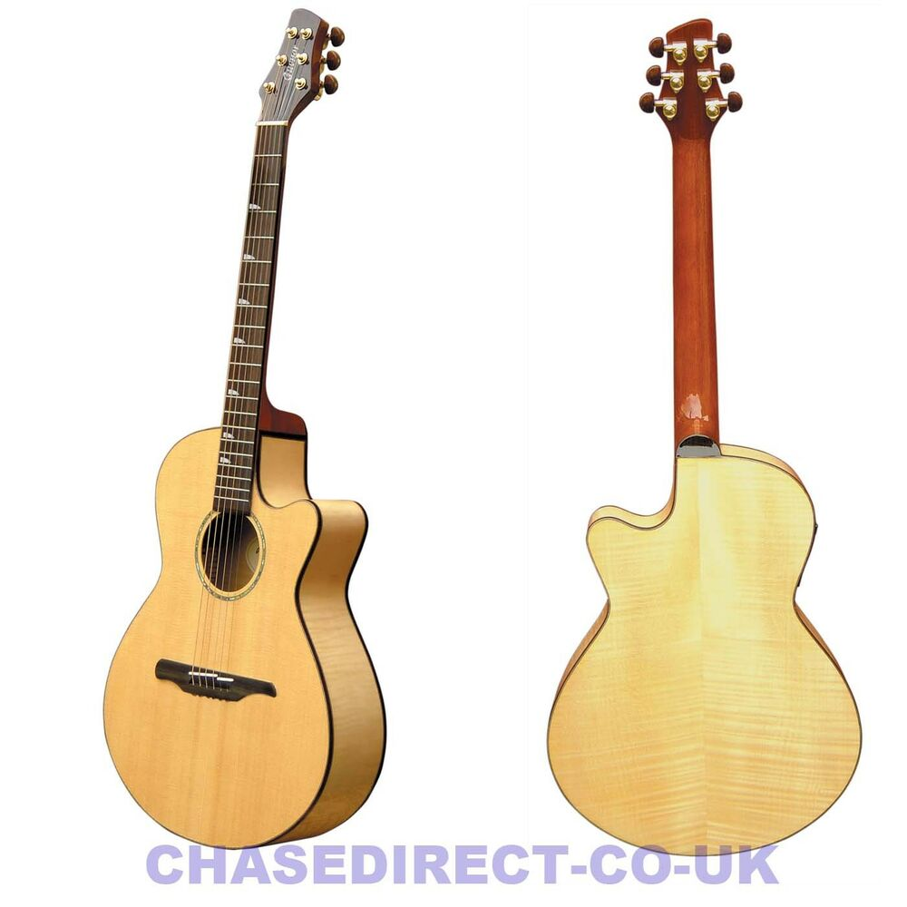 guvnor by chase ga755ce electro acoustic guitar folk style steel strings cutaway ebay. Black Bedroom Furniture Sets. Home Design Ideas