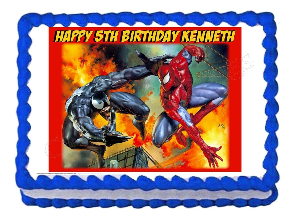 Spiderman Cake Topper Ebay