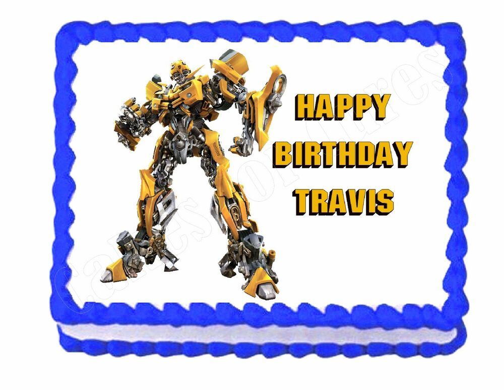 Transformers Cake Decorations Uk : Transformers edible cake image cake topper decoration eBay