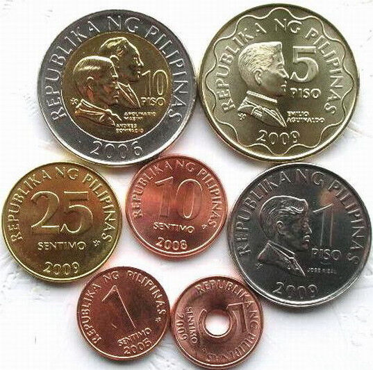 Coin Ph: Philippines New Set Of 7 Coins,With Bimetal Coin,BU