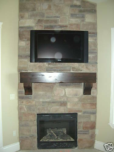 """New """"Wasatch"""" Knotty Alder Fireplace Mantle"""
